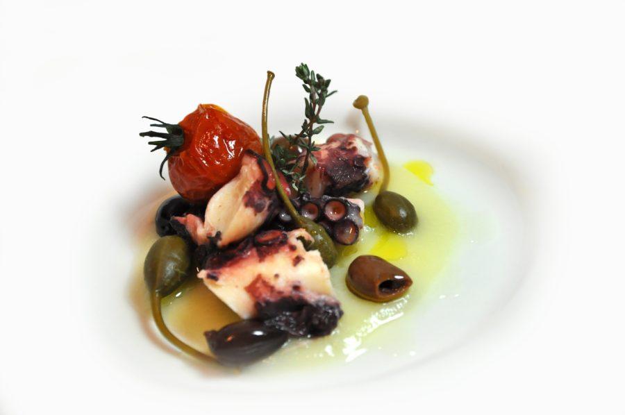 Polipo, patate e olive taggiasche